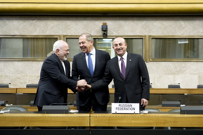 Russia Turkey Iran renew push for new Syrian constitution