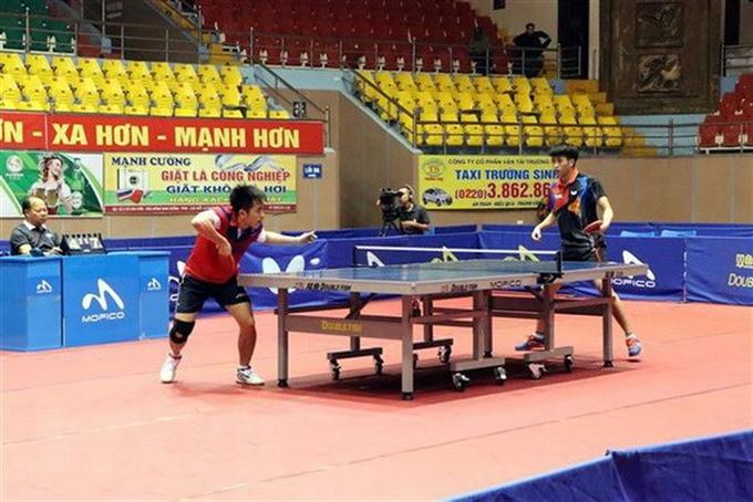 Tuân Nga win National Top Table Tennis Players Tournament