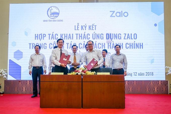 Bình Dương eases admin with aid of Zalo