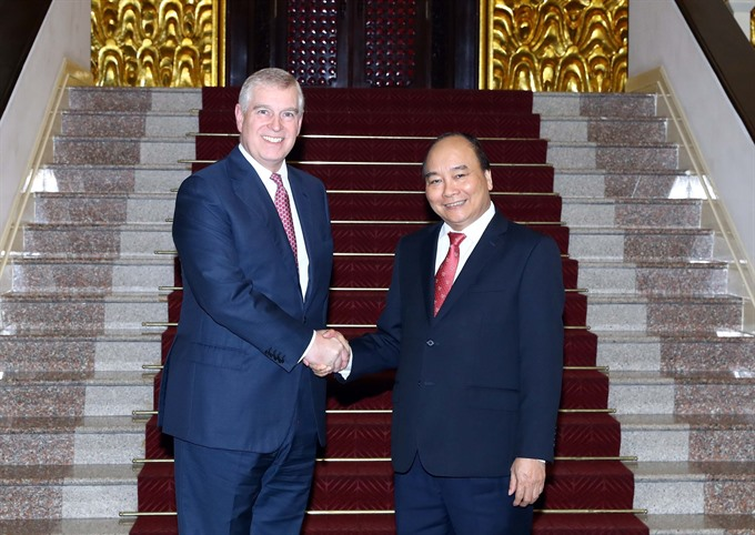 Prime Minister receives British Prince Andrew in Hà Nội