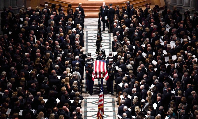 Condolences to US over former President George H W Bushs death