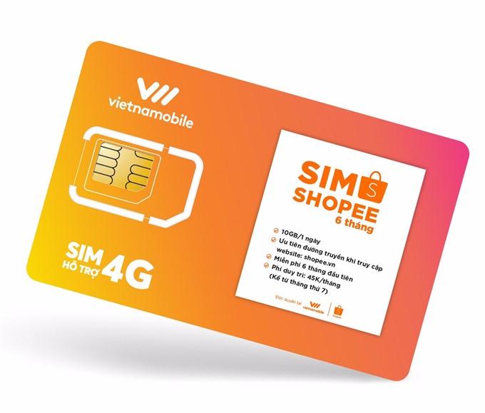 Vietnamobile Shopee launch SIM card