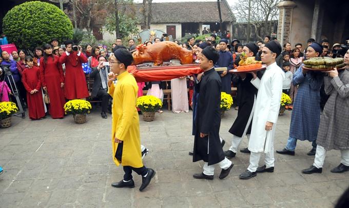 Tết celebration at communal house