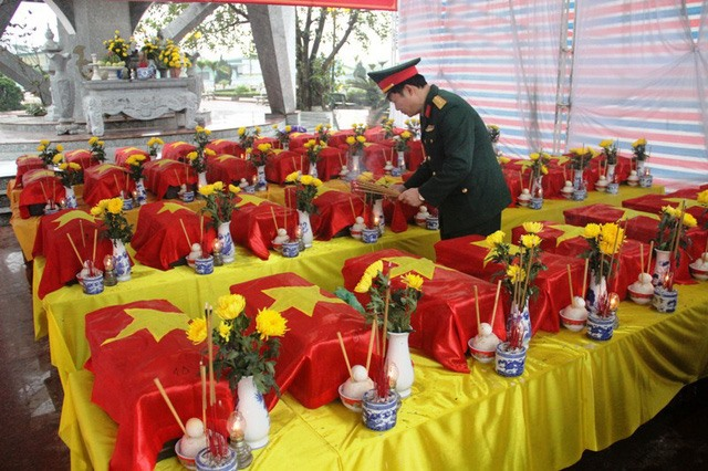 Memorial service held for remains of soldiers in Quảng Trị