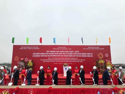 Viglacera starts power project construction at industrial park
