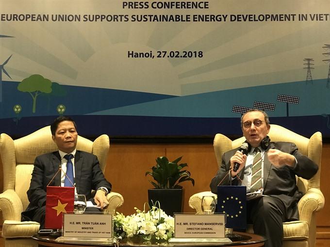 EU gives 108m euros for Viet Nams energy