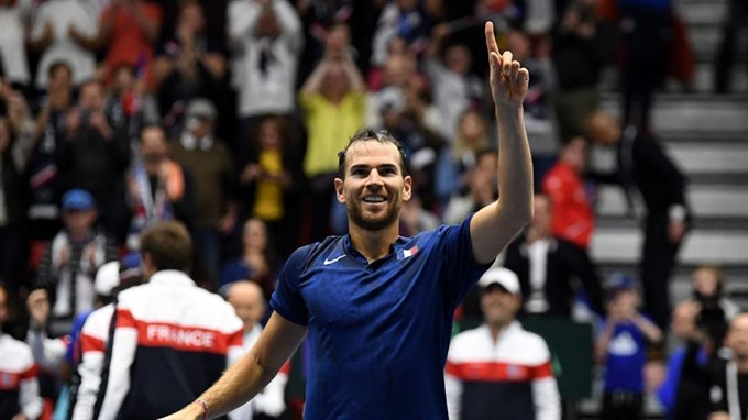 Davis Cup holders France join Spain Croatia in last 8