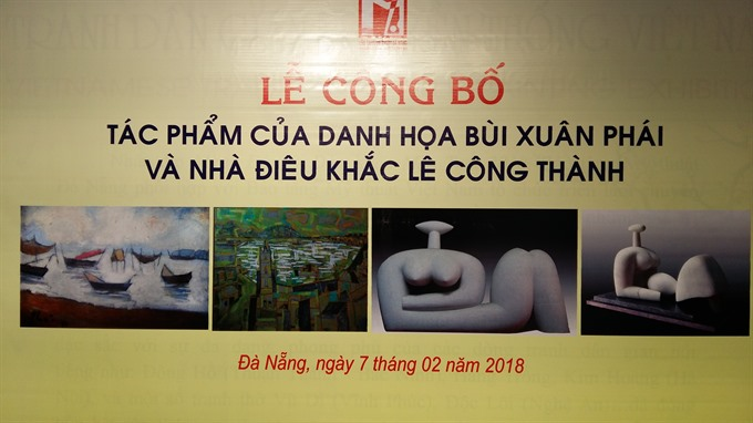 Famous artists work on display for Tết