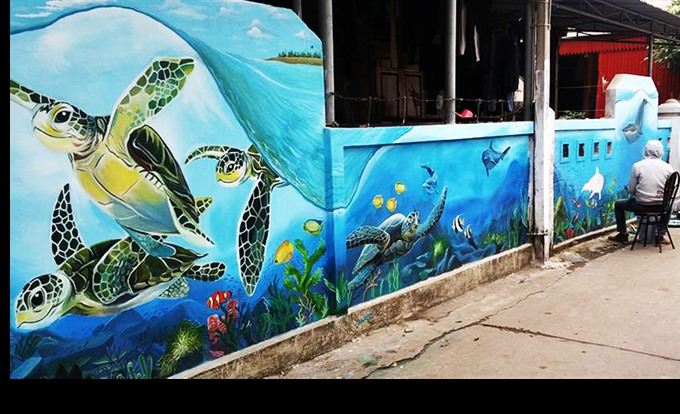 Fresco for the Future wall-painting project adds life to fishing village
