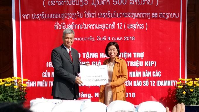 Vientiane helps typhoon victims
