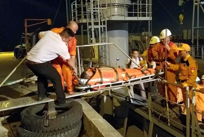 Filipino crewmember suffers heart attack at sea saved