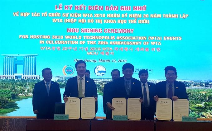 Bình Dương set to host World Technopolis Association assembly
