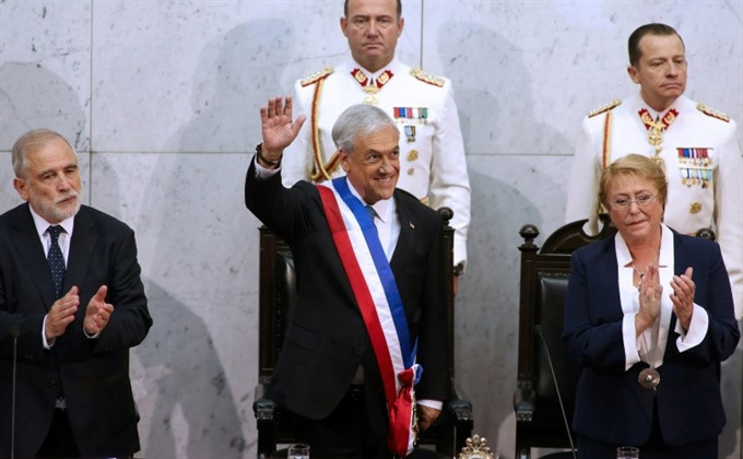 Conservative billionaire Pinera sworn in as president of Chile