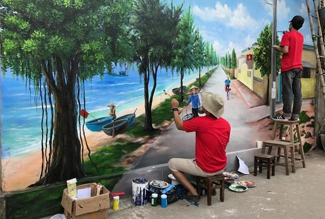 Quảng Bình introduces the 7th mural village in VN