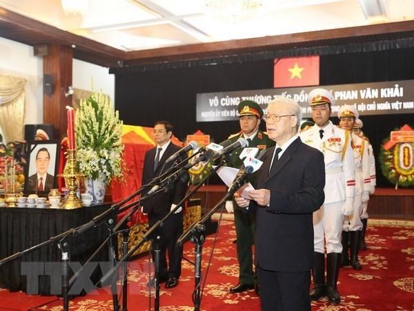 Former PM Phan Văn Khải laid to rest