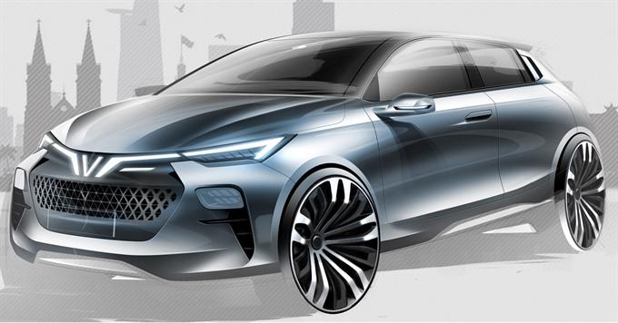 VinFast introduces 2 electric cars 1 small sedan