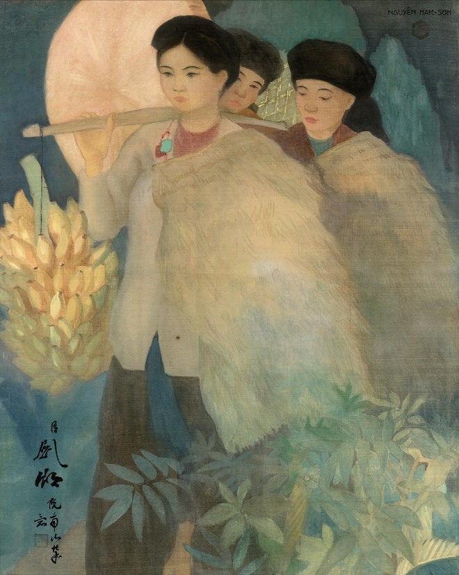 Vietnamese painters work auctioned at record price