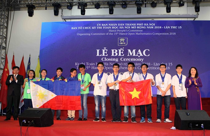 Maths competition sees large foreign participation