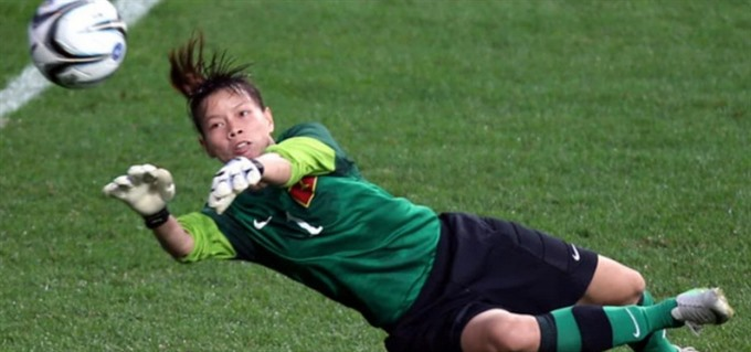 Trinh on AFC website before Asian Womens Cup