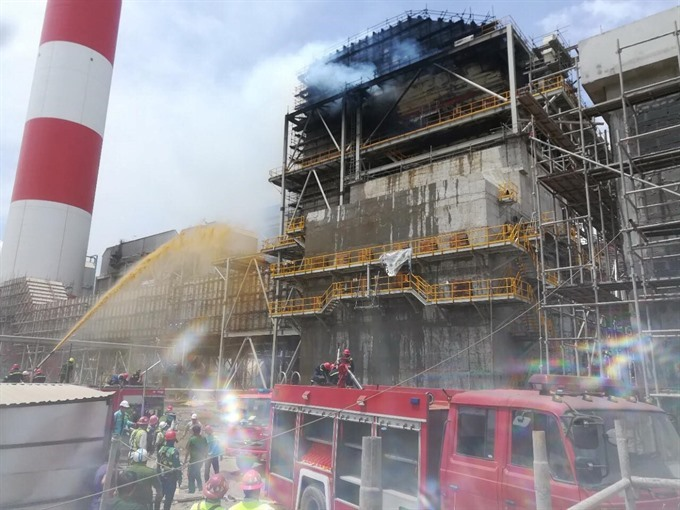 Power plant fire allegedly caused by human error