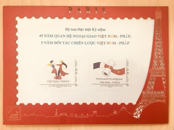 New stamps issued to celebrate France-VN friendship
