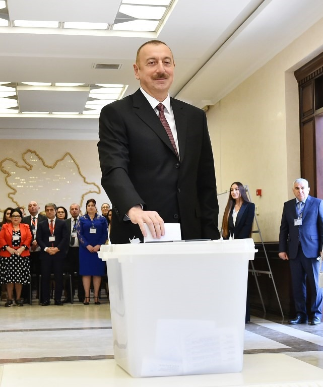 Azerbaijans Aliyev wins election boycotted by opposition