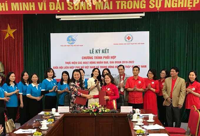 Việt Nam Red Cross Womens Union ink collaboration deal