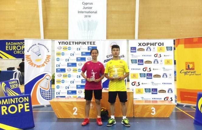 Đăng wins Cyprus junior badminton event