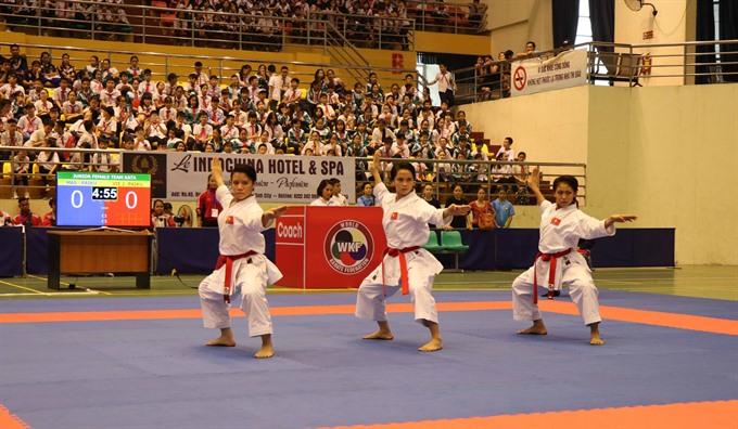 Karatekas dominate regional tourney