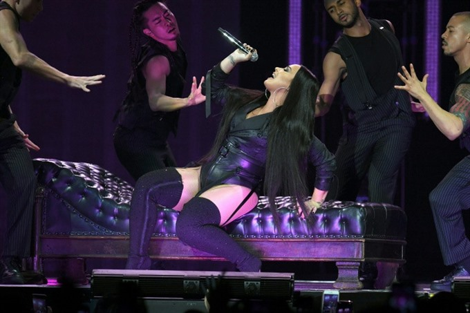 Demi Lovato causes stir with sensual concert romp