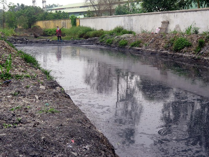 Major irrigation system in the north polluted