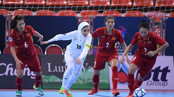 Việt Nam lose to Iran at AFC futsal event