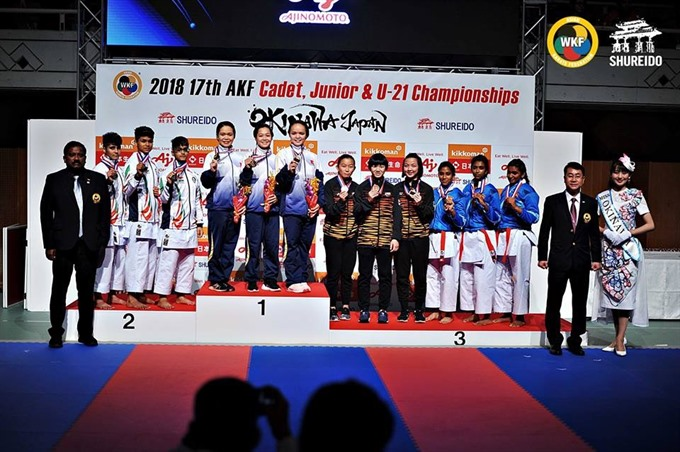 VN win gold rank 8th in karate championship