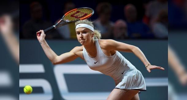 Svitolina off the mark in Rome Sharapova battles through rain