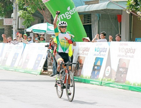 Giang wins 9th stage of cycling tournament