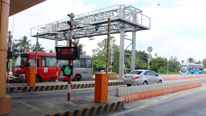 No standard distance between toll stations