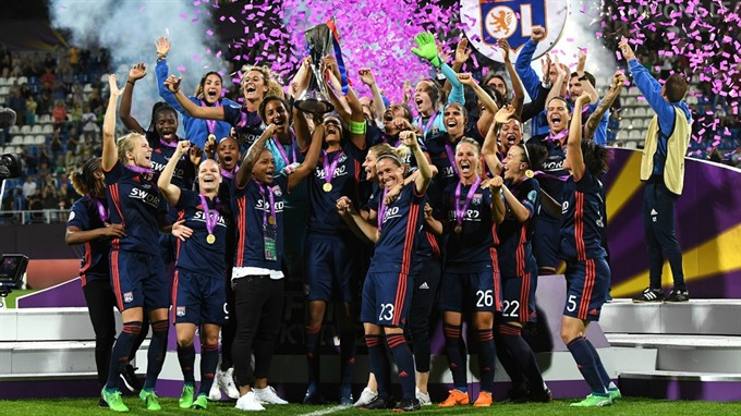 Lyon blow Wolfsburg away in extra time to retain Champions League title