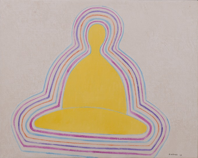 Minimalist artist exhibits zen-influenced paintings