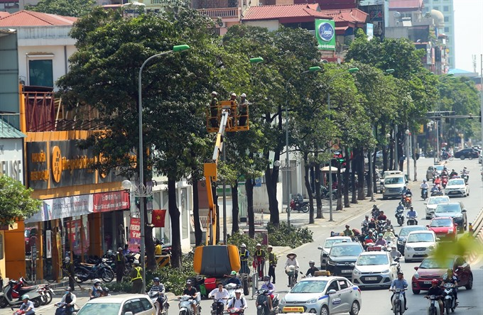 Hà Nộis air quality improves