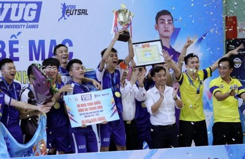 Văn Hiến University win in futsal at VUG