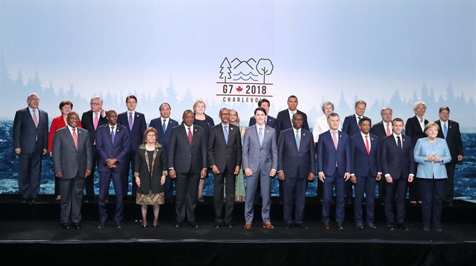 PM stresses intl co-operation at G7 Outreach Summit