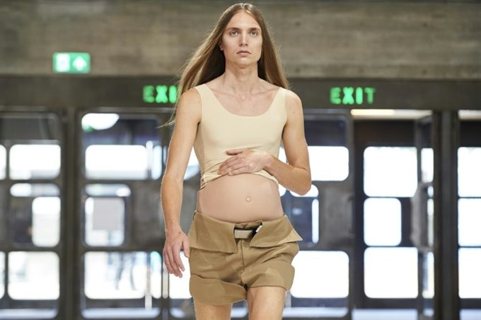 Pregnant man and flower power at London Mens Fashion Week