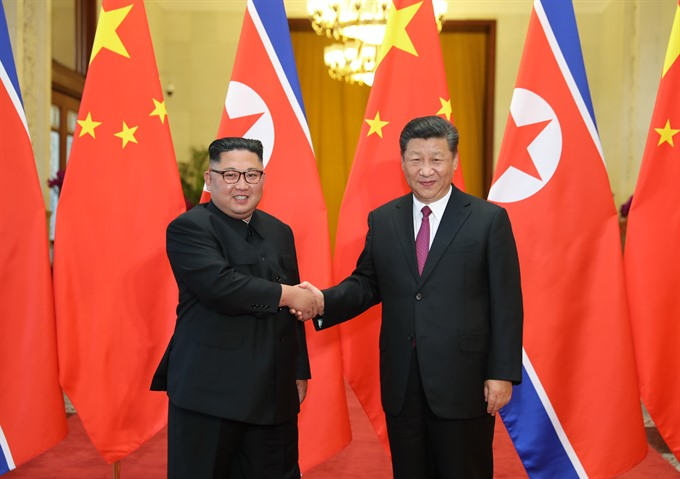 North Koreas Kim hails unity with China in new visit