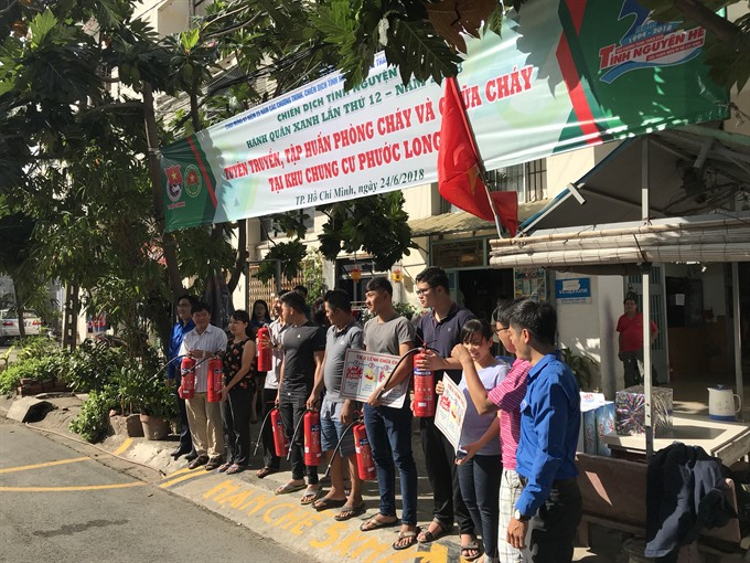Volunteers march for green rights in HCMC