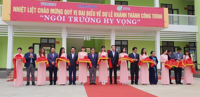 Samsung inaugurates school in Thái Nguyên