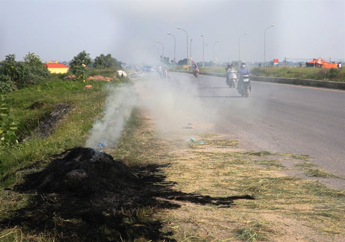 Hà Nội wants to end straw burning on fields by 2020
