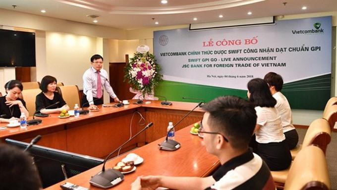 Vietcombank gains GPI certification
