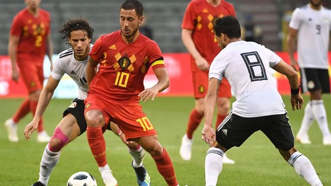 Hazard hones World Cup form in 3-0 friendly win over Egypt