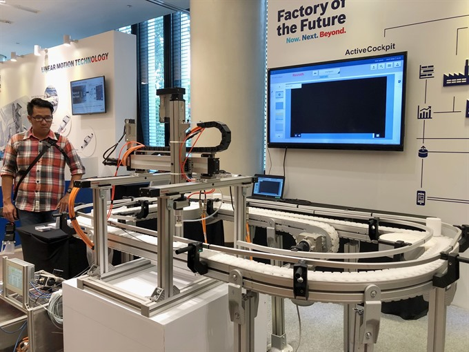 Bosch Rexroth displays latest technologies in HCM City