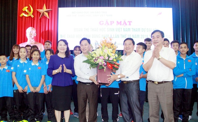 Vietnamese students attends 10th Asian School Games